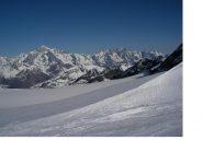 La catena del Bianco dal ghiacciaio del Ruitor