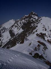 Cresta finale con sfondo Punta Lunella