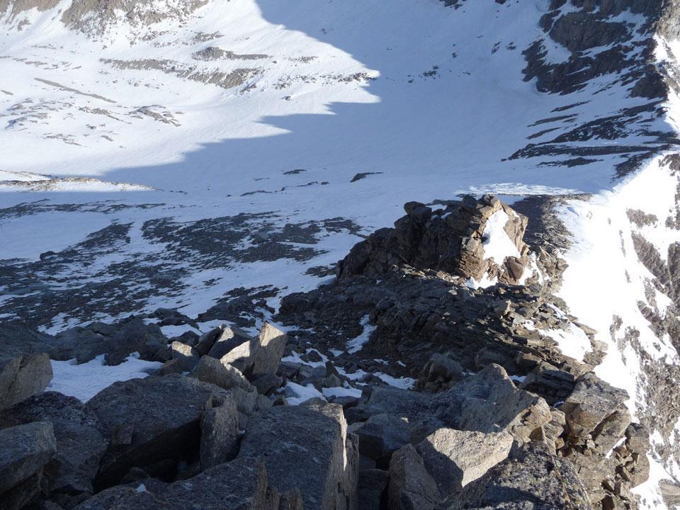 la cresta rocciosa finale