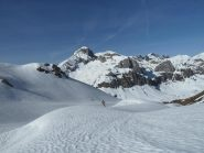 Discesa su neve dura verso la val Ellero