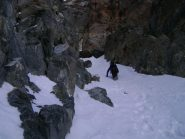 via dei Canali di Destra, rocce affioranti