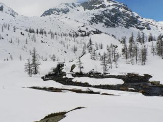 il torrente che si immette nel lago