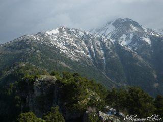 Il Monte Saccarello (dx) e il Monte Bertrand (sx)