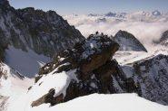 l'anticima della Trouma vista dalla vetta (17-4-2011)
