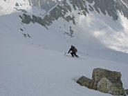 Scialpinista Francese sceso da vetta