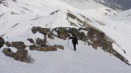 ultimi metri di cresta per Maria Carla...la vetta è quasi raggiunta ! (25-4-2011)