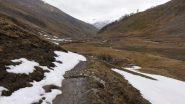 la prima parte della Val Fourane senza neve (25-4-2011)