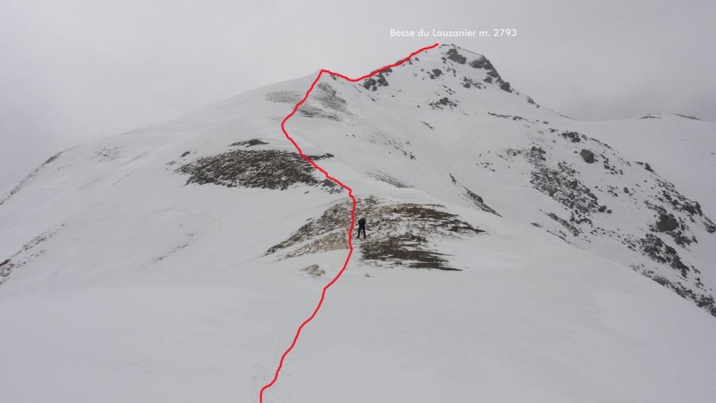 la cresta Nord seguita per raggiungere la cima (25-4-2011)