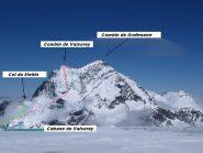 Prima parte del percorso e la discesa finale dal Col du Meitin