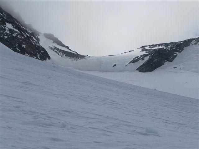il ghiaccio al Col du Meitin