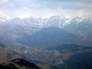 Panorama sulle Alpi Liguri