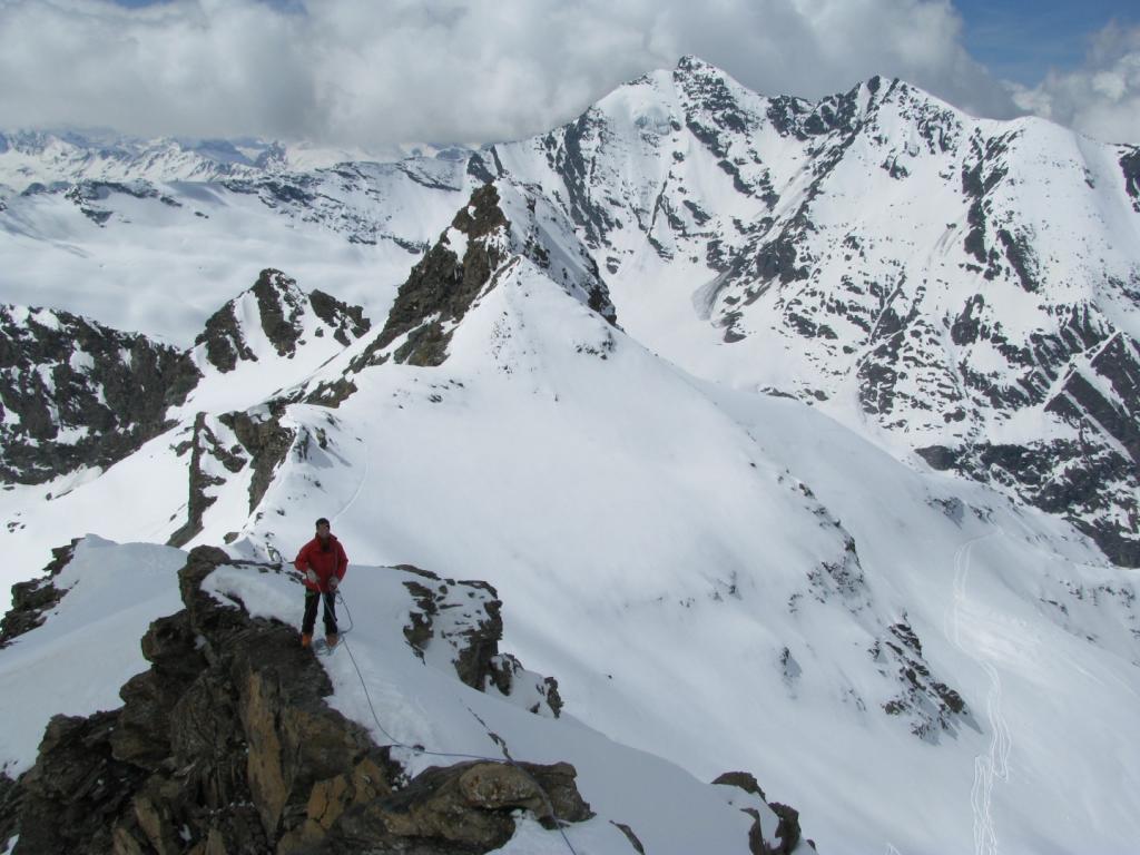 Dalla vetta ultima parte della cresta e Grand Sassiere