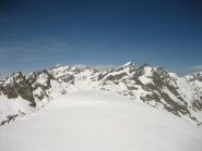 Panoramica dalla vetta, Basto,Gelas,Maledia,Clapier, Chamineye e Lusiera.