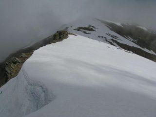 La cresta verso la Cavalcurt
