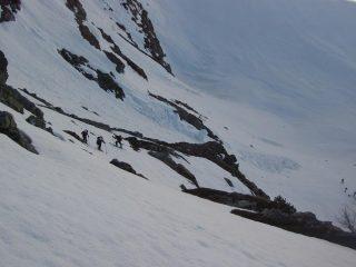 Sul secondo salto verso il Lago di Pietrarossa