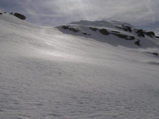 il colle del Courmaon e a destra ll'inizio della cresta