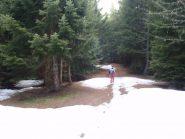 inizia il tratto nevoso