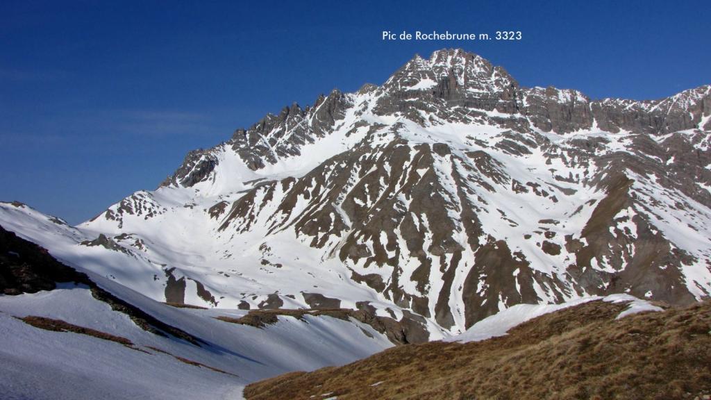 il Pic de Rochebrune visto dal colletto di quota 2600 m. (8-5-2011)