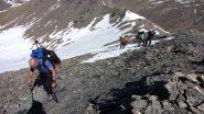 salendo in cresta...a pochi metri dalla cima (8-5-2011)