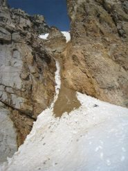 Discesa dal colle Bonney verso ghiacciaio Tsasset