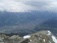 panorama di Aosta dalla vetta