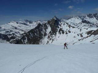 Salita verso la punta dell'Alp