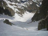 il vallone di Prefouns visto dal Passo 2620 m.