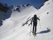 il Passo di Tablasses 2738 m. e la testa Sud di Bresses 2820 m.