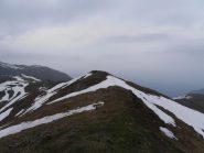 01 - P.ta Sbaron, ecco l'unico nevaio (5Mt) da attraversare arrivando in prossimità della cima