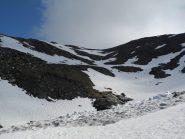 scarsità di neve nel tratto finale