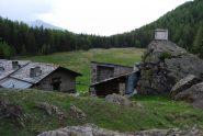 L'Alpeggio di Tillac con il suo verde pianoro