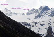 Cresta di confine sul ghiacciaio del Mulinet