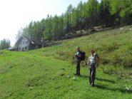 bella baita sopra Buthier prima del traverso nel bosco