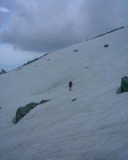 Attraversamento del grosso nevaio