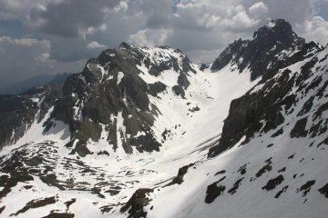 vista dalla cima verso Oronaye e Autovallonasso