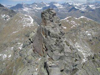 Il monolite granitico della vera cima
