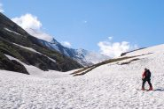 sul fondo della Valle Lunga a 2200 m