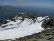 Panoramica sulla cresta est dalla vetta