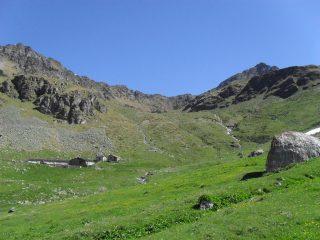 l'arrivo all'alpe Seivaz