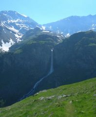 la cascata da sotto