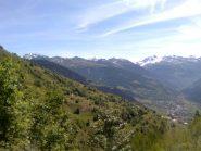 Bourg-Saint-Maurice in fondo valle
