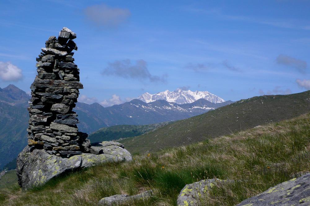 All'orizzonte il Monte Rosa