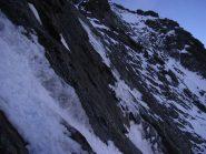 goulotte sul percorso  tra secondo nevaio e Triangolo