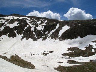 Tanrta neve verso il passo di Collalunga