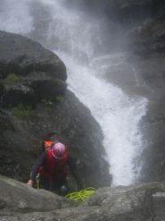 Renato al fondo della cascatona