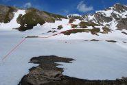 Il superamento del dosso a quota 2700 m ca.