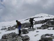inizio dell'ultimo tratto con la neve