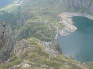la diga del lago di Cignana