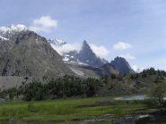 panorama verso il Bianco dal lago Combal
