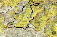 cartina con itinerario